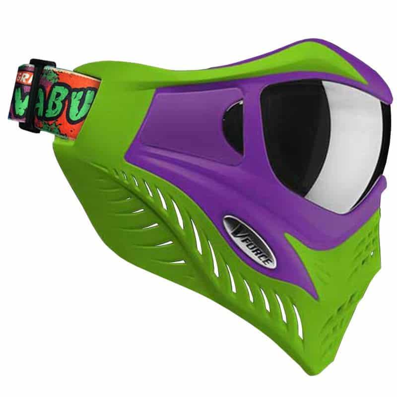 V Force Grill Paintball Mask Cowabunga Series Purple Green