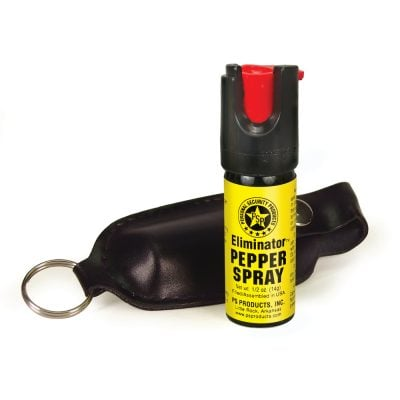 ELIMINATOR 1-2OZ PEPPER SPRAY WITH SOFT CASE AND KEYRING