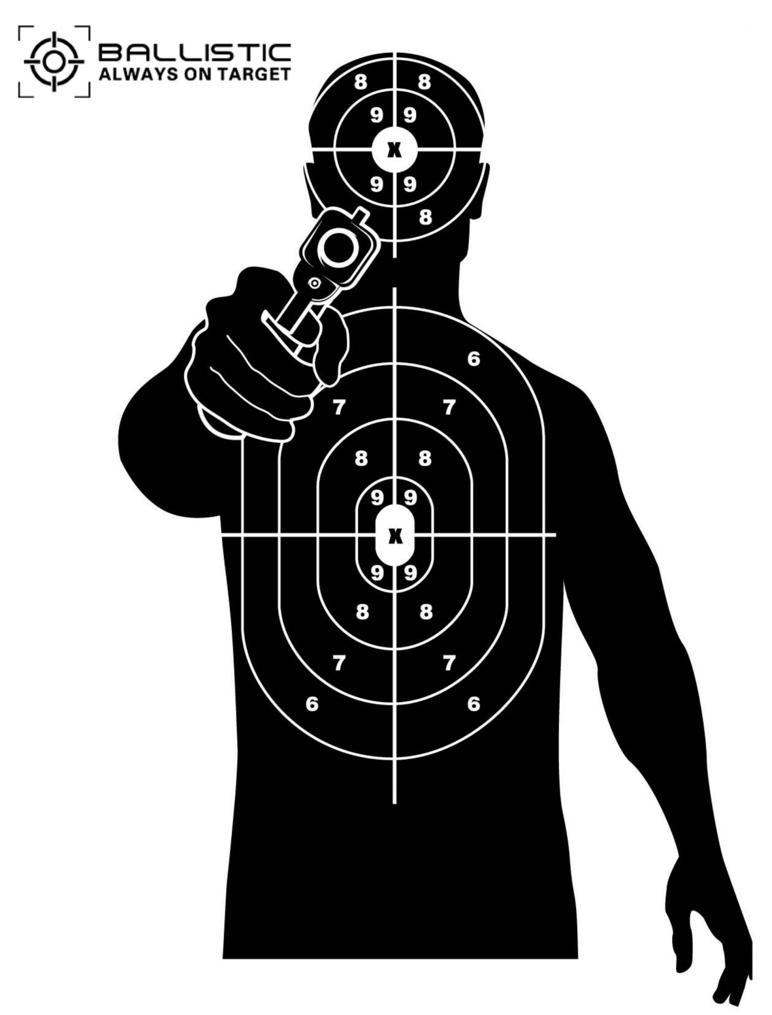 Ballistic Man Target