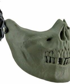0001000 airsoft skeleton half mask green