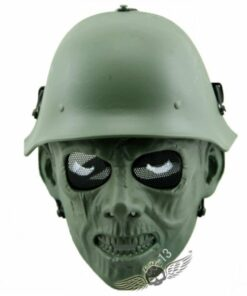 Zombie Soldier Full Face Mask OD