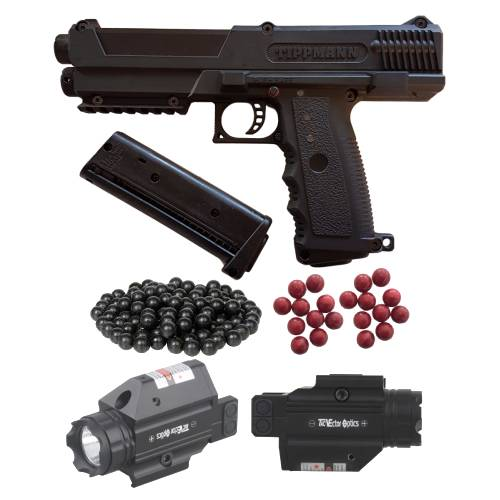TIPPMANN TIPX PAINTBALL PISTOL SELF DEFENSE KIT, TIPPMANN TIPX PAINTBALL PISTOL SELF DEFENSE COMBO, Blades and Triggers