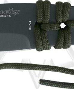 Black fox throwing knife with paracord wrap hand/ nylon BF-724