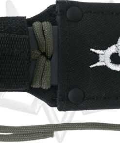 BLACK FOX THROWING KNIFE WITH PARACORD WRAP HAND NYLON 02