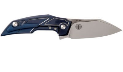 FOX PHOENIX TASHI BHARUCHA DESIGN TITANIUM ANODISED BLUE M390 STAINLESS STEEL 01