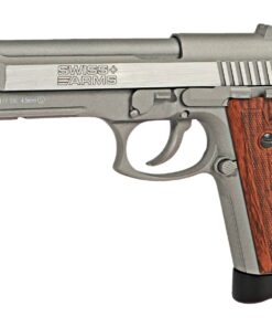 SWISS ARMS SA92 CO2 STAINLESS PISTOL BROWN GRIPS 288511 01