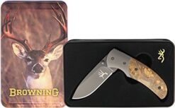 BROWNING BR978 WHITETAIL LINERLOCK WITH TIN 01
