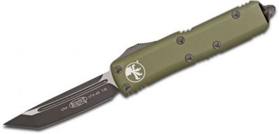 Microtech UTX 85 T E OTF Automatic Knife OD Green 3.125 Black 233 1OD