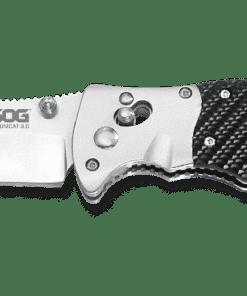 SOG Tomcat 3.0 Satin Clip Point Blade Folding Knife SOGS95N 01