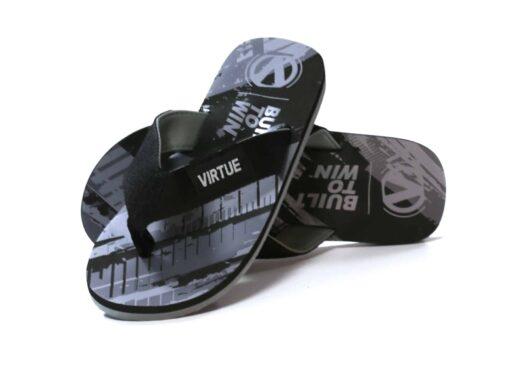 virtue flip flops graphic black
