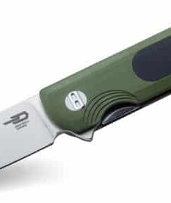 Bestech Knives BG07A Pebble Stonewashed Blade Green and Black G10 Handles 1