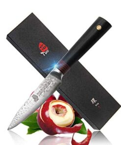 tuo cutlery paring knife aus 10 japanese damascus steel fruit and vegetable parer hand hammered blad  41pkxbXqQnL