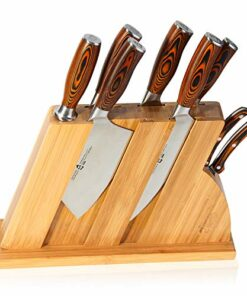 tuo cutlery knife set with wooden block honing steel and shears forged hc german steel x50crmov15 wi  51AmR gzbVL