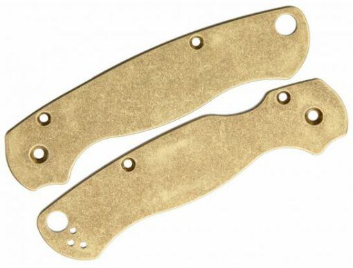 Flytanium Brass Scales for Spyderco Paramilitary 2 Antique Stonewashed