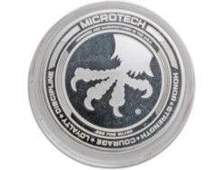 Microtech Knives Custom Antique 25th Anniversary Silver Challenge Coin - 501-25COIN