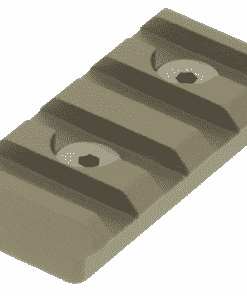 UTG PRO 4 slot keymod Picatinny rail section-FDE MTURS04SD