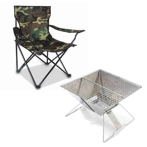 MINI BBQ STAND AND CAMPING, MINI BBQ STAND AND CAMPING CHAIR – COMBO LARGE, Blades and Triggers